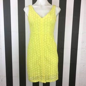 Zara Collection Lime Green Lace Zip Back Dress